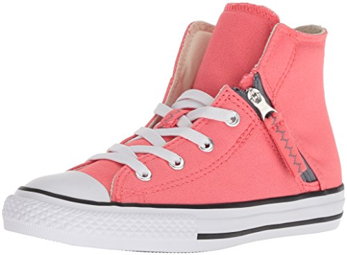 Price comparison product image Converse Girls' Chuck Taylor All Star Pull-Zip High Top Sneaker, Light Pink, 1 M US Little Kid
