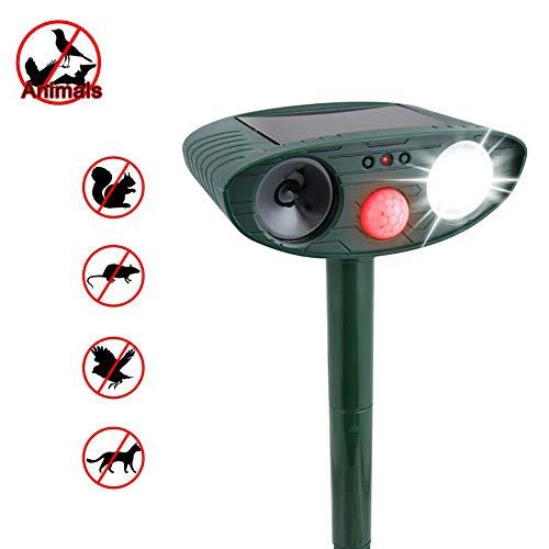 ZUZEN Multi-Function Bird Repeller Solar Animal Drive Outdoor Ultrasonic Infrared Light Flash Drive Dog and Cat Ultrasonic