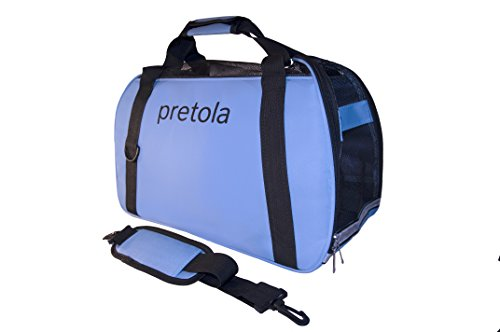 Pretola Soft Sided Pet Carrier Airline Approved Travel Bag - Perfect for Dog, Cat or Puppy - 3 Sizes (Medium)