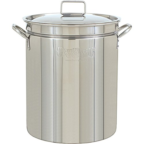 Bayou Classic 44-quart Stainless Steel Stockpot with Lid (Bayou Classic With Lid Steamer)