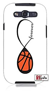Cool Painting Forever Basketball Infinity Basket Ball Unique Quality Soft Rubber Case for Samsung Galaxy S4 I9500 - White Case