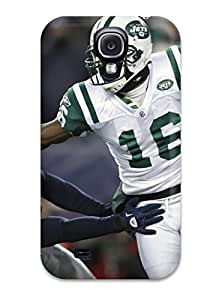 Galaxy S4 Hard Back With Bumper Silicone Gel Tpu Case Cover New York Jets