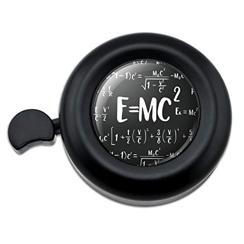 2 Energy Mass Equation Albert Einstein Theory of Special Relativity Math Bicycle Handlebar Bike Bell ()