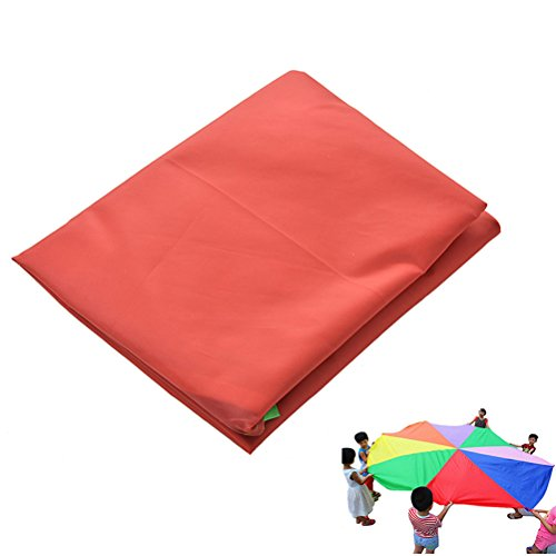 NUOBESTY Play Parachute Multicolored Children Team Work Educational Toy for Outdoor Games Sports Activities Cooperative Games by NUOBESTY (Image #7)