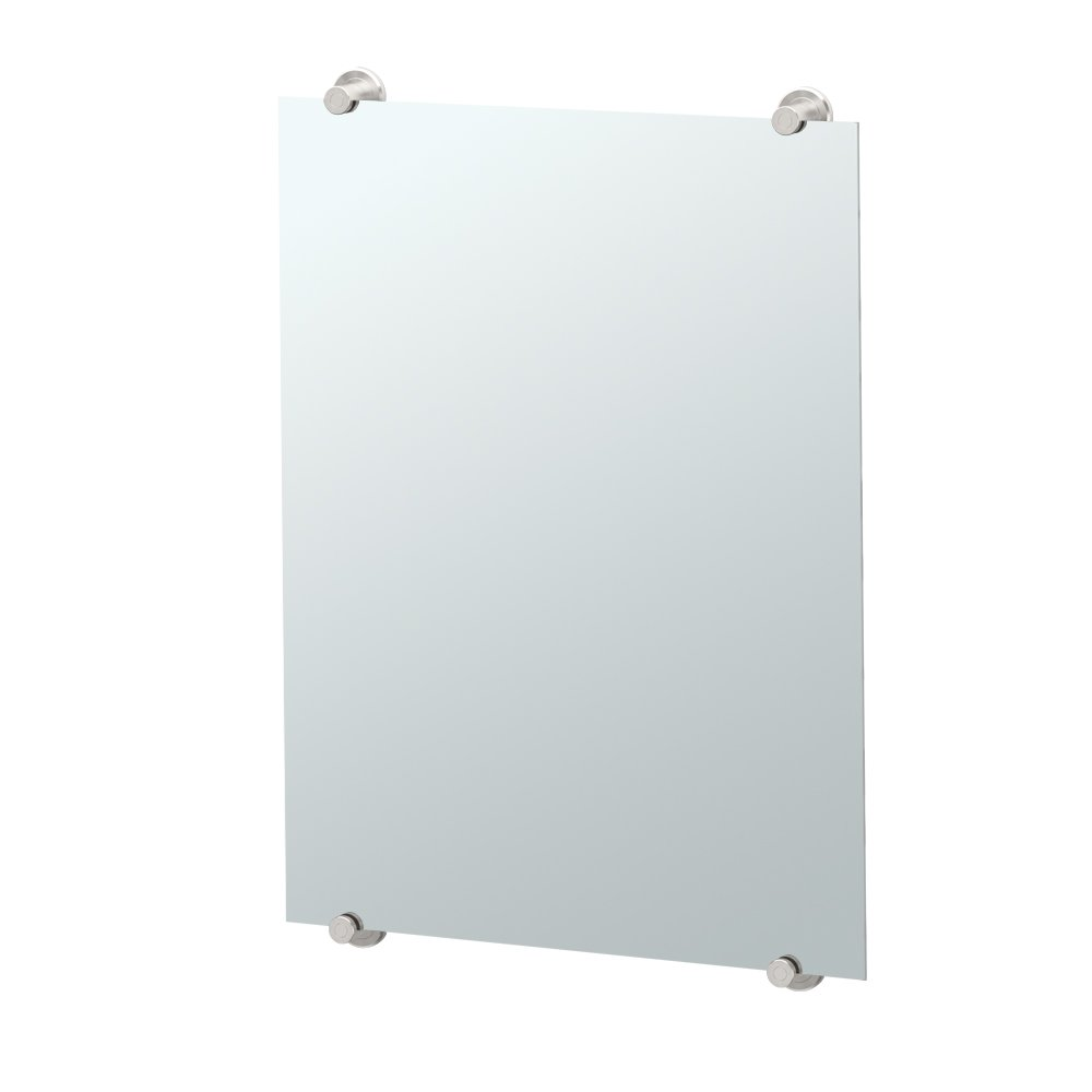 Gatco 1562 Latitude II Minimalist Mirror, Satin Nickel