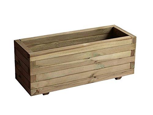 garbric Blumenkasten rechteckig 50x 100x 40behandeltes Holz