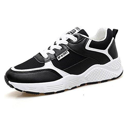 Zapatillas para Planas Mujer Malla De Y Zapatillas Versátiles Black Deportivas FOxFSrTwq
