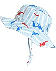 SOMALER Toddler Kids Summer Sun Hat Boys Girls Reversible Cotton Bucket Hat Spring Hat for 6M-4T