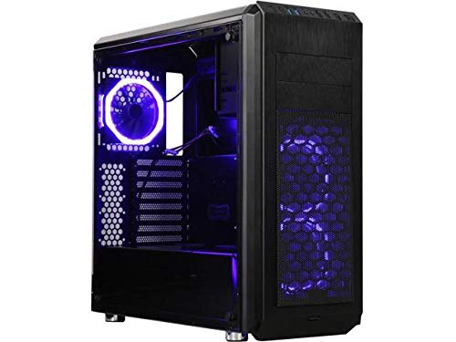 (DIYPC Vanguard-V6-RGB Black Dual USB3.0 Steel/Tempered Glass ATX Mid Tower Gaming Computer Case)