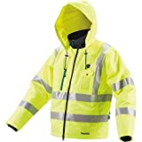 Makita DCJ206ZL 18V LXT High Visibility Heated Jacket, Large, Fluorescent