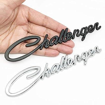 black 2pcs Challenger Rear Car Badge Emblem For Dodge Chrysler Challenger Car Styling Decor Stickers