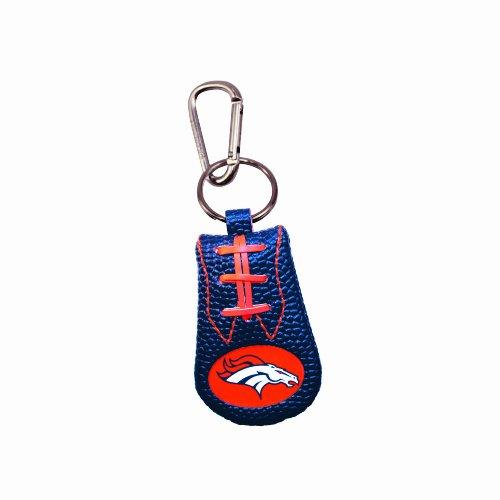 Denver Broncos Team Color NFL Football Keychain