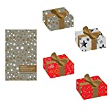 "Premium Gift Wrapping Sheets 4 Designs X 5 Sheets (20 Wrapping Sheets) Size 17""x 24"" - Theme Christmas Sparkle (90 Cents per Sheet)"