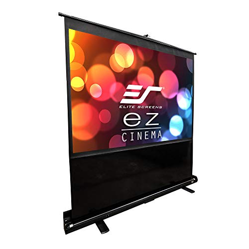 Elite Screens ezCinema Series, 60-INCH 4:3, Manual Pull Up Projector Screen, Movie Home Theater 8K / 4K Ultra HD 3D Ready, 2-YEAR WARRANTY, F60NWV