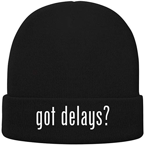 One Legging it Around got Delays? - Soft Adult Beanie Cap, Black
