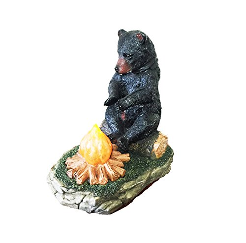 Large Black Bear By The Campfire Table Night Light - Rustic, Cabin, Lodge, Country Decor by DeLeon Collections (Image #3)