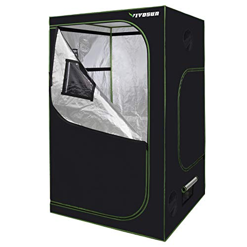 $105.99 indoor grow tent packages VIVOSUN 48″ X48″ X 80″ Hydroponic Mylar Grow Tent with Tool Bag, Observation Window and Floor Tray for Planting Growing 2019