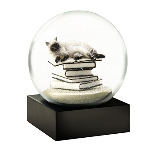 CoolSnowGlobesCat on Books White Snow Globe by CoolSnowGlobes®