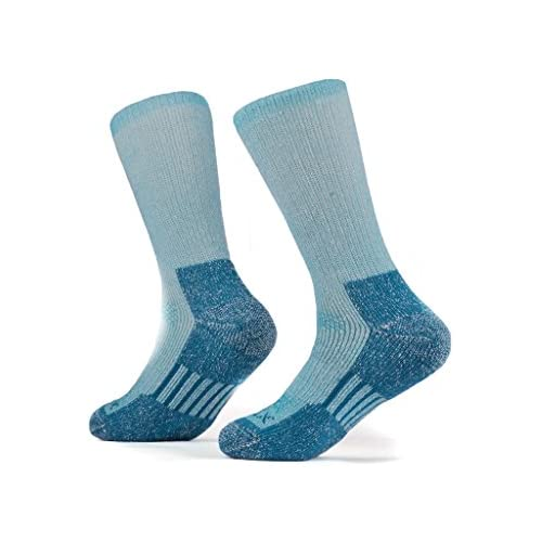 SOLAX Women's Merino Wool Hiking Socks 2 Pairs Outdoor Trail Crew Socks