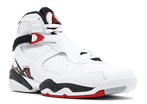 Jordan Air 8 Retro Men's Shoes White/Black/Wolf Grey/Gym Red 305381-104 (8 D(M) US) (Jordan 8 Black Gym Red Black Wolf Grey)