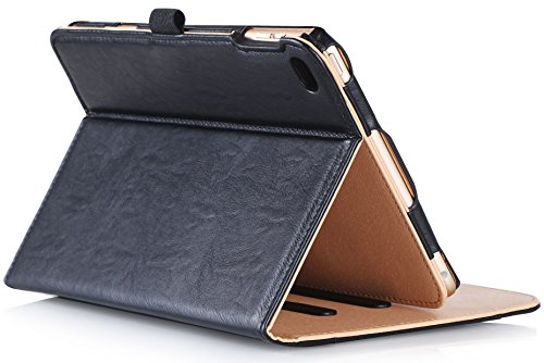 ProCase iPad mini 4 Case - Leather Stand Folio Case Cover for 2015 Apple iPad mini 4 (4th generation iPad mini - mini4) - with Multiple Viewing angles - auto Sleep Wake - Document Card Pocket (Black)