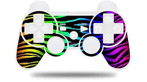 Sony PS3 Controller Decal Style Skin - Rainbow Zebra (CONTROLLER NOT INCLUDED) (Ps3 Controller Rainbow)