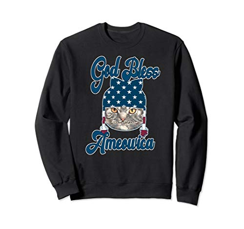 God Bless America Cat Lovers Patriotic Shirt Gift Sweatshirt