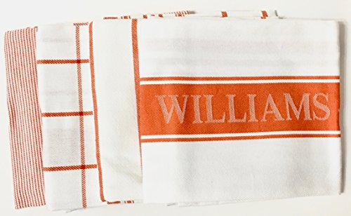 Williams Sonoma Kitchen Towels Set of 4 (Pumpkin) by Wiliams Sonoma