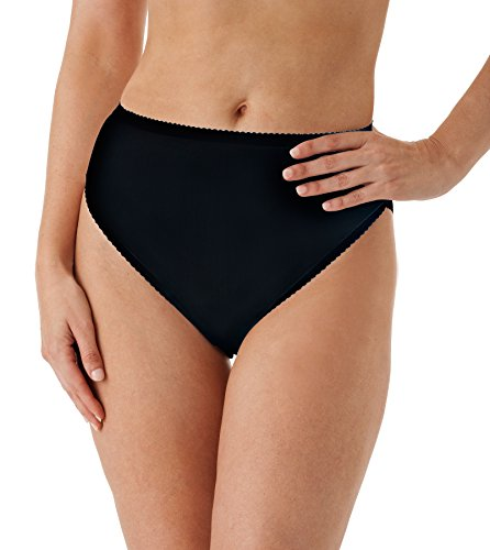 (Shadowline Women's Plus Size Spandex Hi-Leg Brief, Black, 2X)