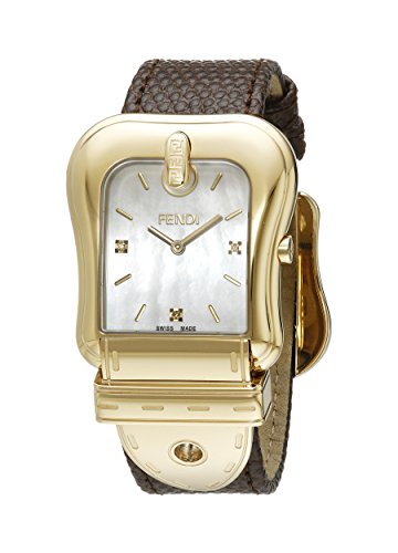 Fendi Women's F382414522D1 B. Fendi Analog Display Quartz Brown Watch
