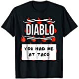 Mens HOT SAUCES Group Halloween Costumes DIABLO SAUCE shirt Large Black