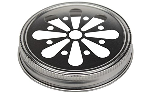 (Rust Proof Daisy Cut Lids for Mason, Ball, Canning Jars (5 Pack, Wide Mouth))