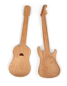 Kikkerland CU64 Rockin Löffel Holzlöffel Gitarren