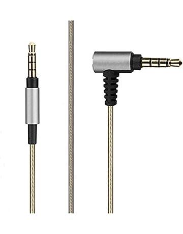 micity Cable de chapado en plata de reemplazo actualización Audio Cable de extensión Cable Lead para