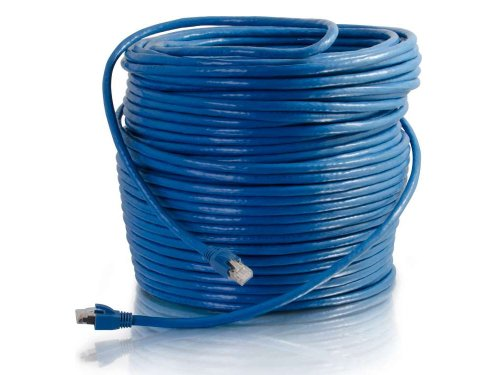 C2G/Cables to Go 43123 Cat6 Snagless Solid Shielded Network Patch Cable, Blue (250 Feet/76.2 Meters) (Cat6 Patch C2g Cable)