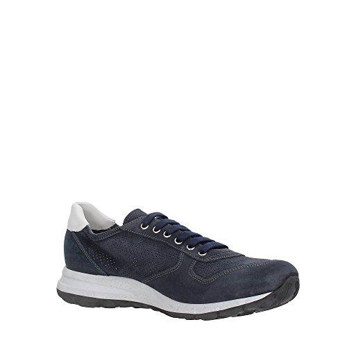 sneakers uomo forato FRAU camoscio lavato forato colore blu