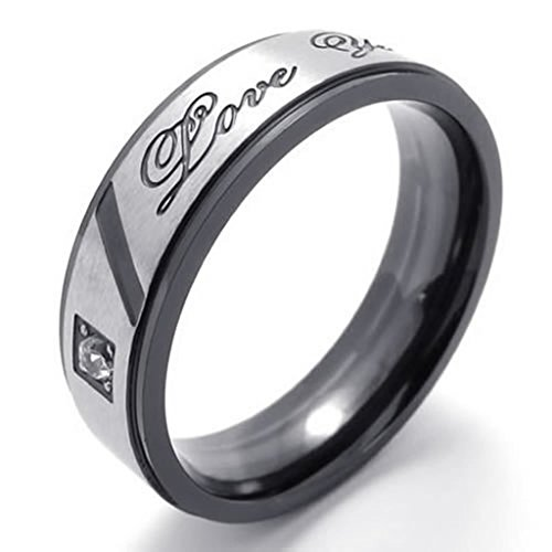 [Bishilin Stainless Steel WoFashion Men's Rings Engagement Promise Bands Size 7] (Sauron Costumes)