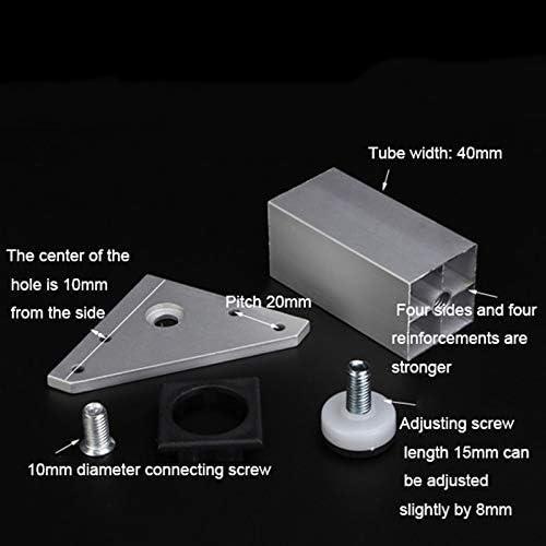 Altura Regulable Patas de Soporte de Metal MWPO Patas para Muebles Patas cuadradas de 4 Piezas de aleaci/ón de Aluminio Cuadrada adecuadas para Muebles//Accesorios de Plateadas Carga 600 kg