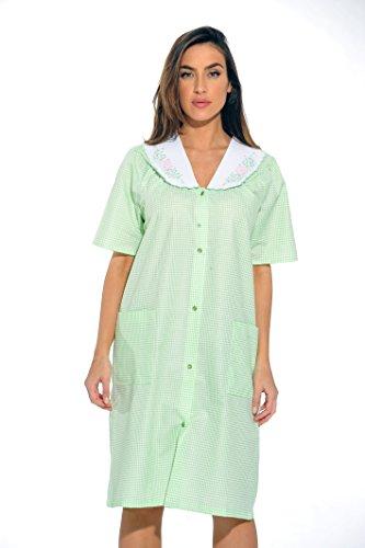 8511-Green-XL Dreamcrest Short Sleeve Duster / Housecoat / Women Sleepwear,Green,X-Large (Best Coffee At Target)