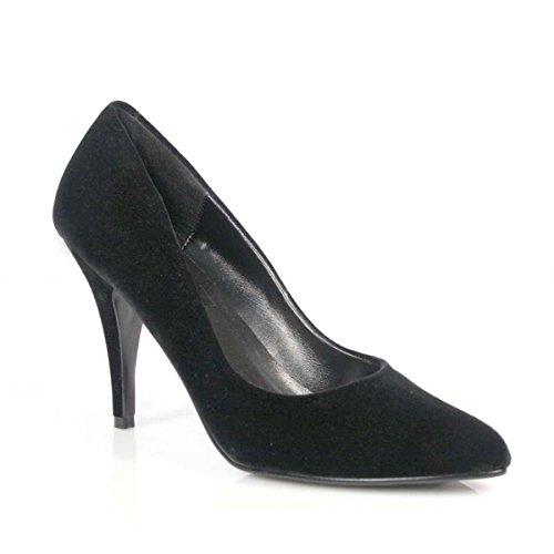 Pleaser VANITY-420, Zapatos Mujer Samt Schwarz