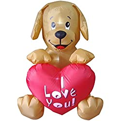 4' Inflatable Puppy Valentine's Day Yard Art Decoration
