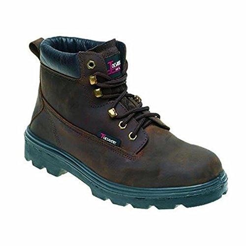 Toesavers 1101-4,0 doppia suola imbottita S3, stivali di sicurezza, misura 4, colore: marrone