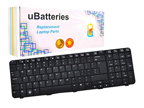 UBatteries Compatible Keyboard Replacement For HP Compaq G71 G71t CQ71 517627-001 532808-001 - CQ71-100 CQ71-200 CQ71-300 CQ71-400 G71-300 G71-400 Series - (Black)