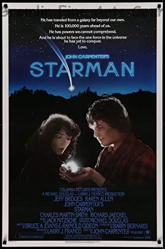 Starman – Jeff Bridges and Karen Allen Theatrical Release Movie Poster 1984