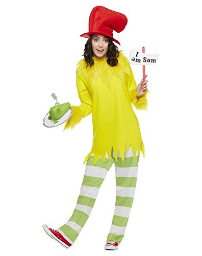 Dr. Seuss Costume for Adults - Sam I Am | Officially Licensed Yellow -