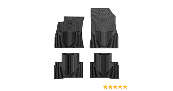 Black Rubber WeatherTech Floor Mat WTNB218219 Front//Rear