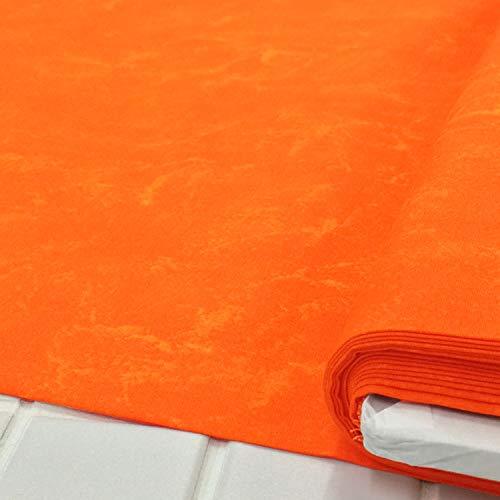 ハワイアン 生地 ラスター むら染め (142 オレンジ)布 布地 手芸 綿100%のファブリック。ハワイアンキルトやパッチワークをはじめ、バッグ、雑貨、カーテンやクッションカバーなどのインテリアなどにオススメです。【1m単位】の商品画像