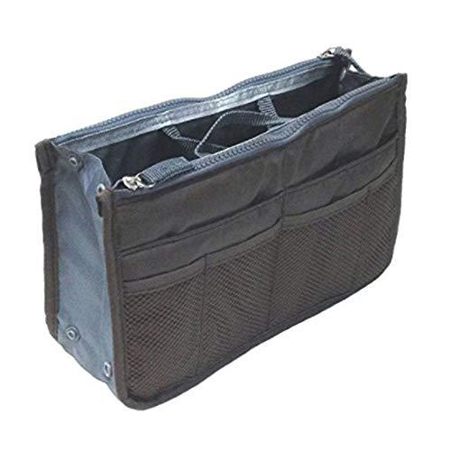 Large Purse Organizer Insert Handbag Pouch Tidy & Neat (Ships From USA) (Gray)