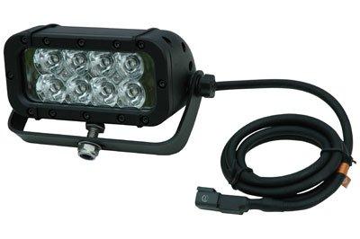 Infrared LED Light Emitter on Trunnion Wall Mount - 8, 3-Watt LEDs - 850 or 940nm (-Spot-850nm-White)