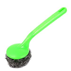Pan Pot Bowl Cleaner Tool Steel Wire Ball Brush Green